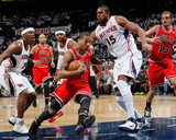 Chicago Bulls v Atlanta Hawks - Game Three, Atlanta, GA - MAY 6: Joe Johnson, Al Horford and Derric Photographic Print