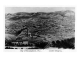 Encampment, Wyoming - Aerial View of Town