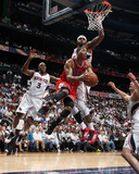 Chicago Bulls v Atlanta Hawks - Game Three, Atlanta, GA - MAY 6: Derrick Rose and Josh Smith Photographic Print
