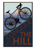 Conquer the Hill - Mountain Bike Art Print