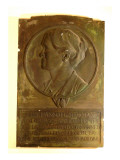 Rectangular Plaque Made of Plaster and Painted to Look Like Patinated Bronze