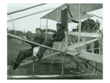 Harvey Crawford in Biplane, 1912