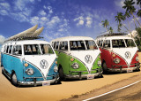 VW Camper - Campers Beach Giant Poster