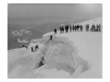 Mountain Climbers Ascending Mount Baker, 1908