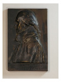 "Plaque Titled ""Washington at Valley Forge"" Made of Bronze with Profile of George Washington"