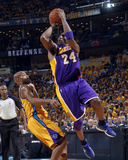 Los Angeles Lakers v New Orleans Hornets, New Orleans, LA - APRIL 22: Kobe Bryant and Jarrett Jack Photographic Print