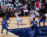 Orlando Magic v Atlanta Hawks - Game Three, Atlanta, GA - APRIL 22: Kirk Hinrich, Jameer Nelson and