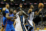 Oklahoma City Thunder v Memphis Grizzlies - Game Six, Memphis, TN - MAY 13: Russell Westbrook, Kend
