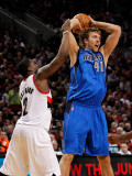 Dallas Mavericks v Portland Trail Blazers - Game Three, Portland, OR - APRIL 21: Wesley Matthews an