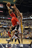 Chicago Bulls v Indiana Pacers - Game Three, Indianapolis, IN - APRIL 21: Derrick Rose and Jeff Fos