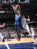 Orlando Magic v Atlanta Hawks - Game Three, Atlanta, GA - APRIL 22: Dwight Howard and Josh Smith Photographic Print