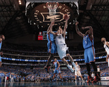 Oklahoma City Thunder v Dallas Mavericks - Game Two, Dallas, TX - MAY 19: Dirk Nowitzki, Serge Ibak