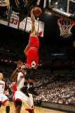 Chicago Bulls v Miami Heat - Game Four, Miami, FL - MAY 24: Derrick Rose, LeBron James