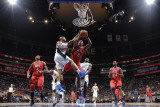 Atlanta Hawks v Orlando Magic - Game One, Orlando, FL - APRIL 16: Joe Johnson and Quentin Richardso Photographic Print