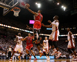 Chicago Bulls v Miami Heat - Game Three, Miami, FL - MAY 22: Derrick Rose and Dwyane Wade
