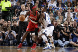 Portland Trail Blazers v Dallas Mavericks - Game One, Dallas, TX - APRIL 16: Gerald Wallace and DeS