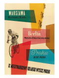 Bicycle Race, Warsaw, Berlin, Prague Premium Poster