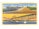Views of Grand Island Bridge, Niagara Falls, New York