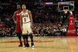 Miami Heat v Chicago Bulls - Game Five, Chicago, IL - MAY 26: Dwyane Wade and Derrick Rose