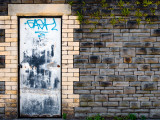 Derelict Door with Graffiti 4