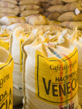 Colombia, Caldas, Manizales, Hacienda Venecia, Coffee in Sisal Bags Ready for Export