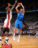 Dallas Mavericks v Miami Heat - Game One, Miami, FL - MAY 31: Dirk Nowitzki and Joel Anthony