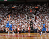 Dallas Mavericks v Miami Heat - Game Two, Miami, FL - JUNE 2: Dirk Nowitzki, Tyson Chandler and Chr