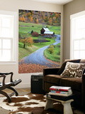 USA, New England, Vermont, Woodstock, Sleepy Hollow Farm in Autumn/Fall