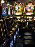 Slot Machines at an Airport, Mccarran International Airport, Las Vegas, Nevada, USA