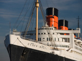 Rms Queen Mary Cruise Ship at a Port, Long Beach, Los Angeles County, California, USA