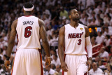 Dallas Mavericks v Miami Heat - Game Six, Miami, FL - June 12: Dwyane Wade and LeBron James