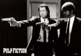 Pulp Fiction –Duo with Guns (Jackson and Travolta) B & W Movie Poster