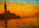 Monet - Venice by Twilight