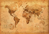 World Map- Antique - Giant Poster