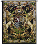Crest On Black II Wall Tapestry