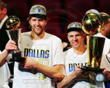 Dirk Nowitzki & Jason Kidd 2011 NBA Championship & MVP Trophies Game 6 of the 2011 NBA Finals