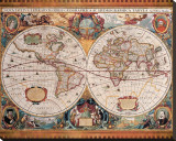 Antique Map, Geographica, Ca. 1630