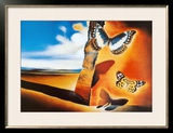Landscape with Butterflies Framed Art Print