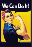 Rosie the Riveter Stretched Canvas Print