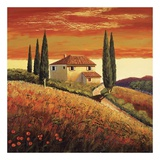 Sunset Over Tuscany II