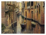 Buy Golden Evening Gondola at AllPosters.com