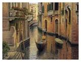Buy Golden Evening Gondola at AllPosters.com