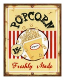 Popcorn Freshly Made Kunstdruck