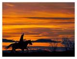 Ropin' at Sunset
