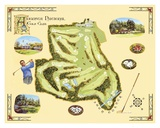 Golf Course Map, Augusta