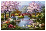 Japanese Garden in Bloom Kunstdruck
