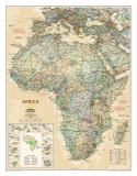 National Geographic Africa Map, Executive Style,