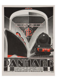 Art Deco Panhard Poster