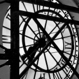 Paris Clock II Art Print