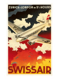 Zurich London Travel Poster Premium Poster